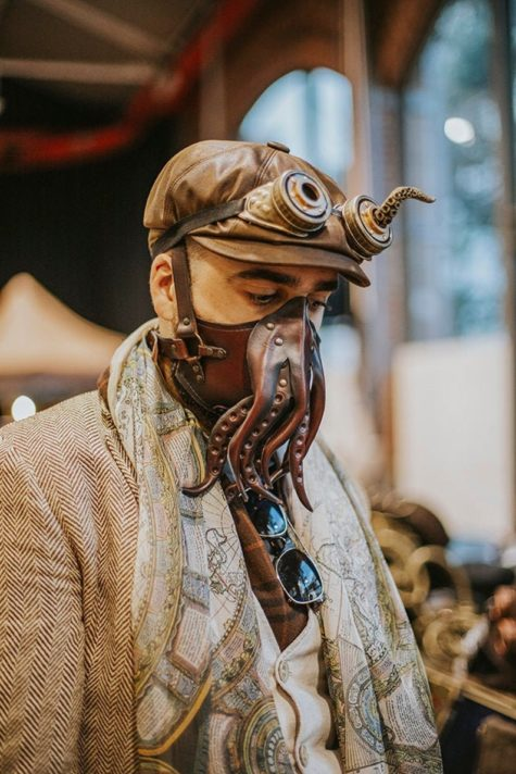 Leather Cthulhu Tentacle face mask